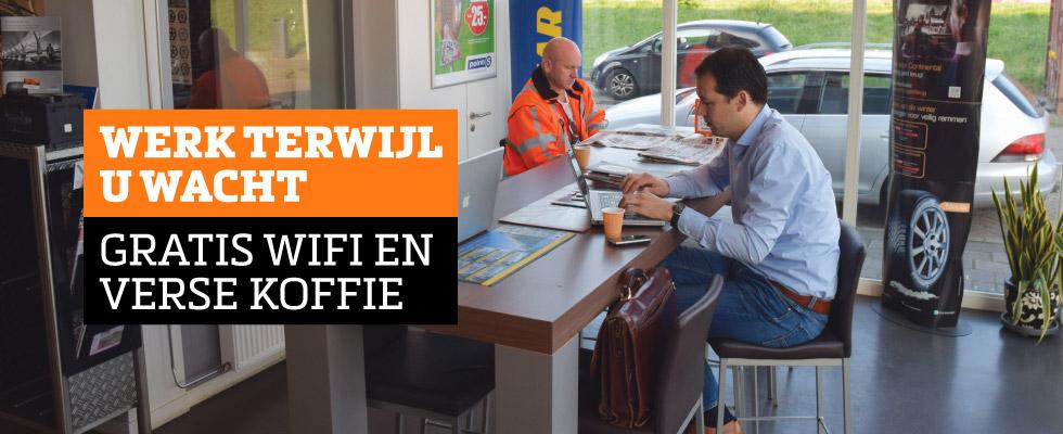 Gratis WiFi en koffie voor klanten -